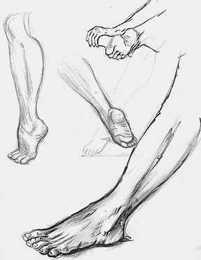 feet drawing