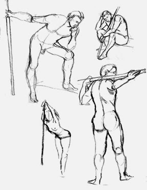 figure drawings of men