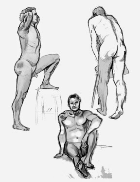 figure drawing of men