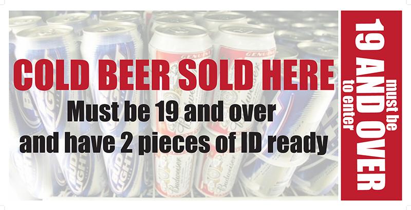 sign beer_20x40